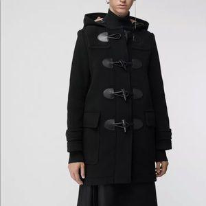 Burberry Mersey Duffle Coat Black Sz 2